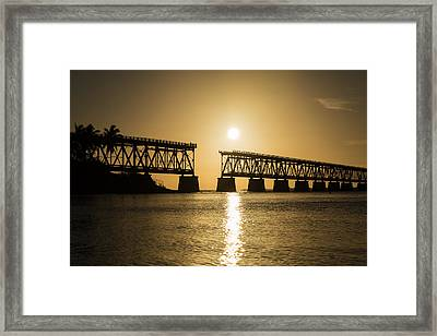 Broken Bridge Framed Print by Kristopher Schoenleber