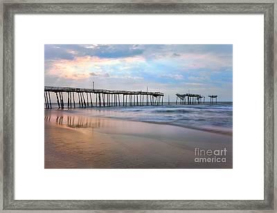Broken Dreams - Frisco Pier Outer Banks I Framed Print by Dan Carmichael