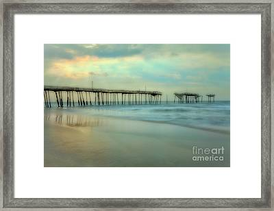 Broken Dreams - Frisco Pier Outer Banks II Framed Print by Dan Carmichael