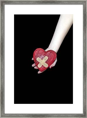 Broken Heart Framed Print by Joana Kruse