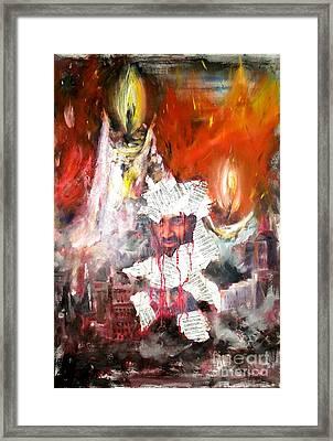 Broken Lives Framed Print by Irene Pomirchy