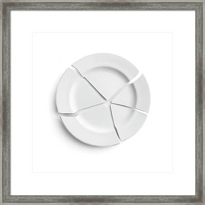 Broken Plate Framed Print by Science Photo Library