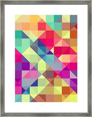 Broken Rainbow II Framed Print by VessDSign
