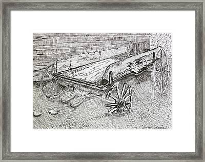 Broken Wagon Framed Print by David Cardwell