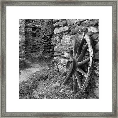 Broken Wheel - Ireland Framed Print by Mike McGlothlen
