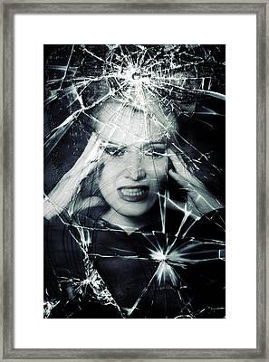 Broken Window Framed Print by Joana Kruse
