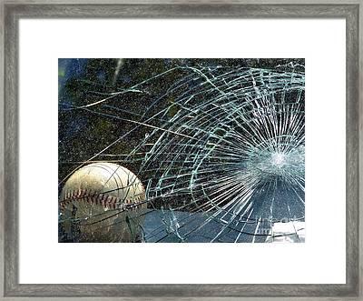 Broken Window Framed Print by Robyn King