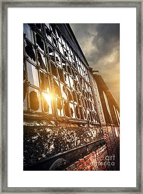 Broken Windows Framed Print by Carlos Caetano
