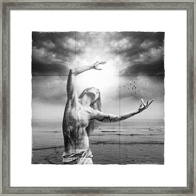 Broken World Framed Print by Erik Brede