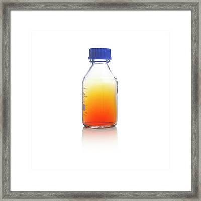Bromine Gas Framed Print by Science Photo Library