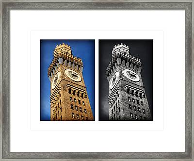 Bromo Seltzer Black And Blue Framed Print by Stephen Stookey