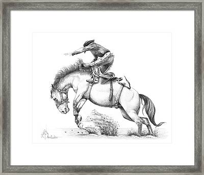 Bronco Framed Print by Murphy Elliott