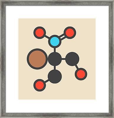 Bronopol Preservative Molecule Framed Print by Molekuul