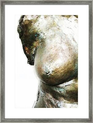 Bronze Bust 1 Framed Print by Sharon Cummings
