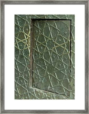 Bronze Door In A Door Framed Print by Russell Smidt