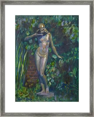 Bronze Figure Framed Print by Sarah Parks