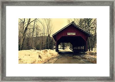 Brookdale Bridge At Stowe Vermont Framed Print by Patricia Awapara