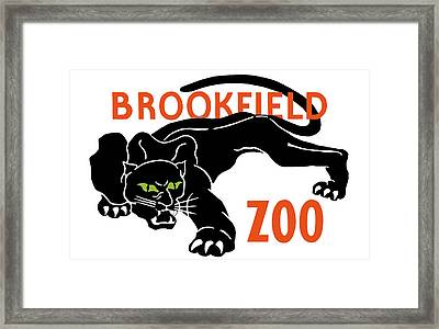 Brookfield Zoo Wpa Framed Print by War Is Hell Store