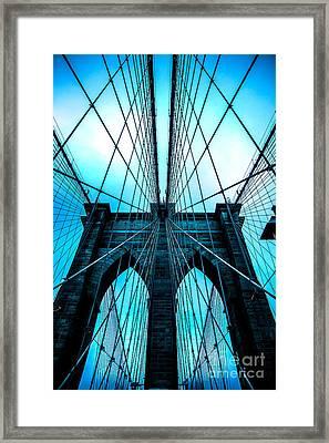 Brooklyn Blues Framed Print by Az Jackson
