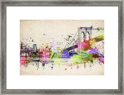 Brooklyn Bridge Framed Print by Aged Pixel
