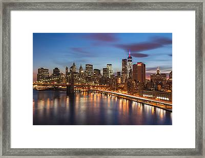Brooklyn Bridge And The Fdr Drive Framed Print by Mike Orso
