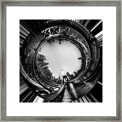 Brooklyn Bridge Circagraph 4 Framed Print by Az Jackson