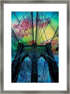 Psychedelic Skies Framed Print by Az Jackson