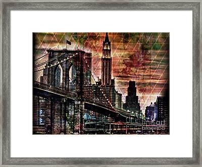 Brooklyn Bridge II Framed Print by Christine Mayfield
