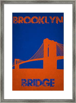 Brooklyn Bridge Framed Print by Joe Hamilton
