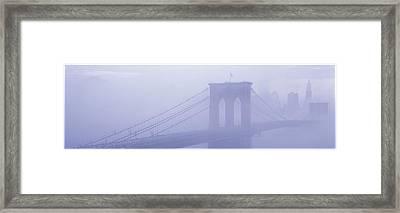 Brooklyn Bridge New York Ny Framed Print by Panoramic Images