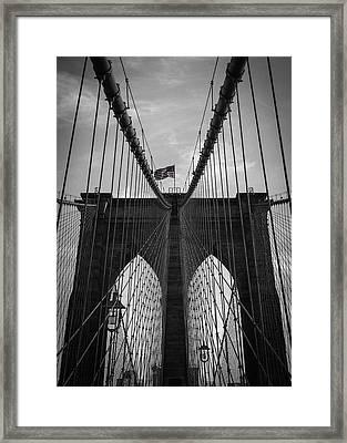 Brooklyn Bridge Framed Print by Nicklas Gustafsson