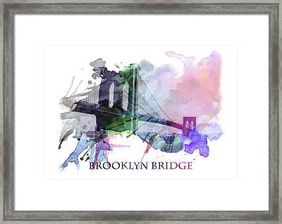 Brooklyn Bridge Framed Print by Steve K