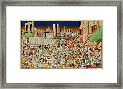 Brooklyn In The 90s Framed Print by Paul Calabrese
