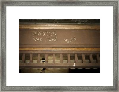 Brooks Was Here Framed Print by Jack R Perry