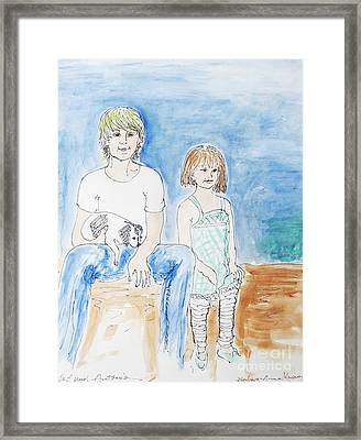 Brother And Sister Framed Print by Barbara Anna Knauf