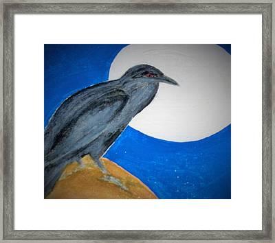Brother Crow Framed Print by Micki Rongve
