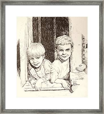 Brothers Framed Print by Art By - Ti   Tolpo Bader