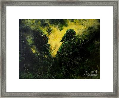 Brothers In Arms Framed Print by Richard Brooks