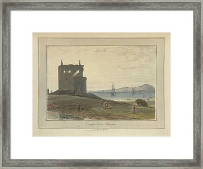 Broughty Castle In Forfarshire Framed Print by British Library