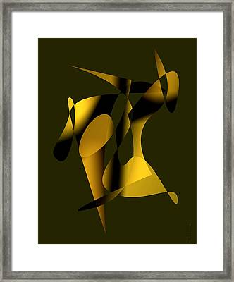 Brown Abstract Art Framed Print by Mario  Perez