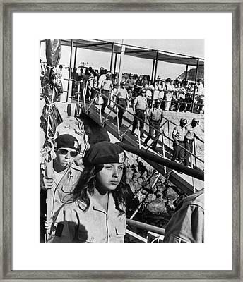 Brown Berets Leave Catalina Framed Print by Underwood Archives
