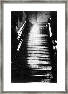 Brown Lady Of Raynham Hall Ghost 1936 Framed Print by Photo Researchers