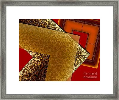 Brownish Design Framed Print by Mario Perez