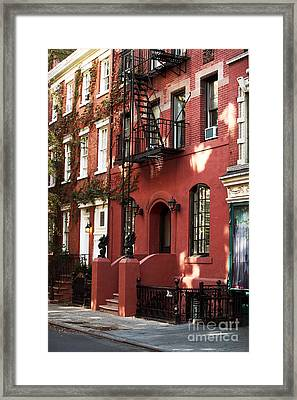Brownstone Framed Print by John Rizzuto