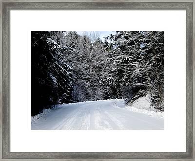 Brrrr Framed Print by Larry Matthews