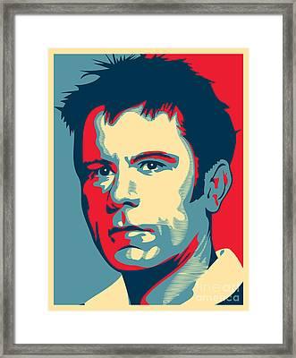 Bruce Dickinson Framed Print by Caio Caldas