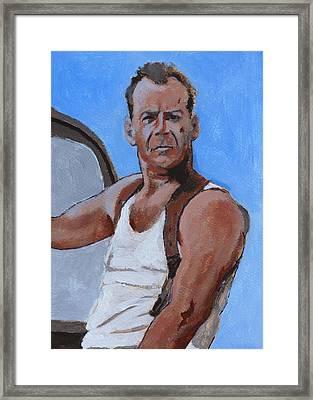 Bruce Framed Print by Robert Bissett