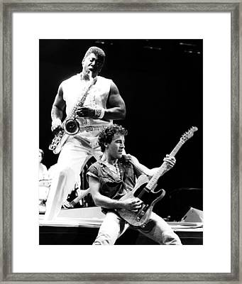 Bruce Springsteen 1985 16x20 Size Framed Print by Chris Walter