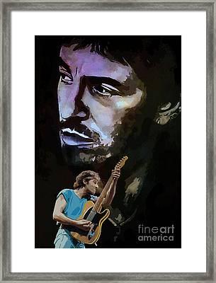 Bruce Springsteen. Framed Print by Andrzej Szczerski