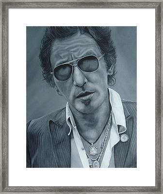 Bruce Springsteen IIi Framed Print by David Dunne